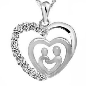 Jewelry - Mother and Child dual Heart Pendant